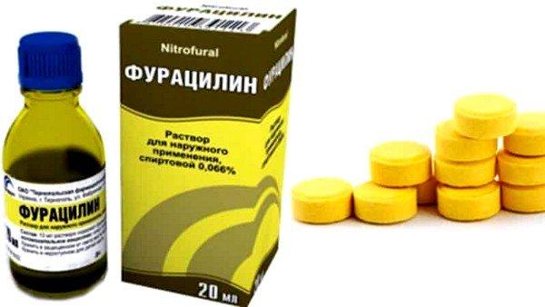 Для лечения острого воспаления горла подойдет раствор фурацилина