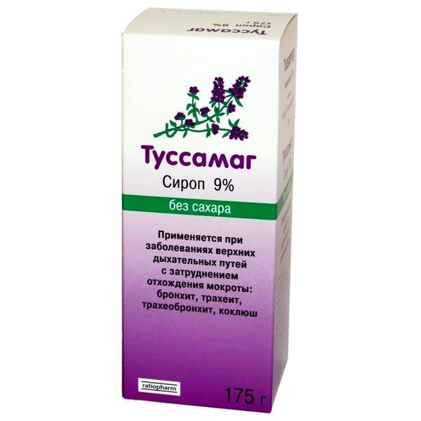 Сироп Туссамаг имеет характерный запах тимьяна
