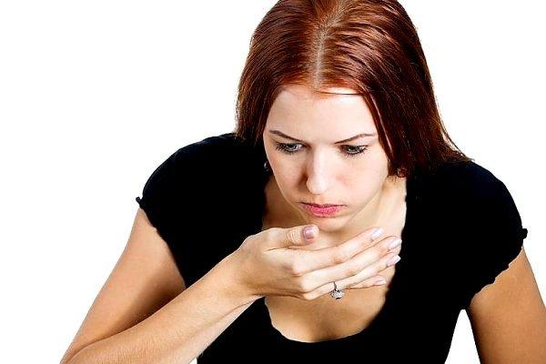 При заражении может возникать тошнота
